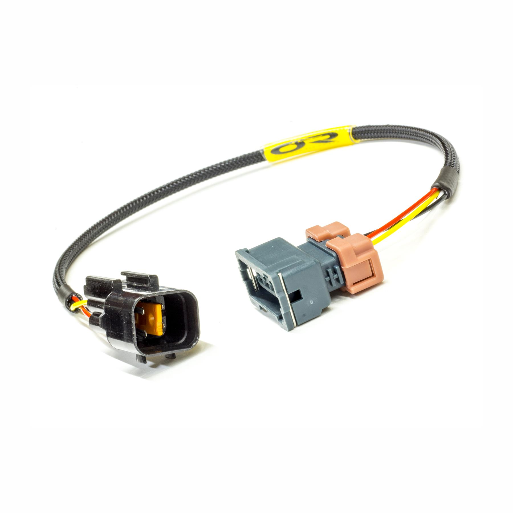 Cam angle sensor adapter (90 1G DSM) on eclipse engine, eclipse wheels, eclipse radio, eclipse transmission harness,