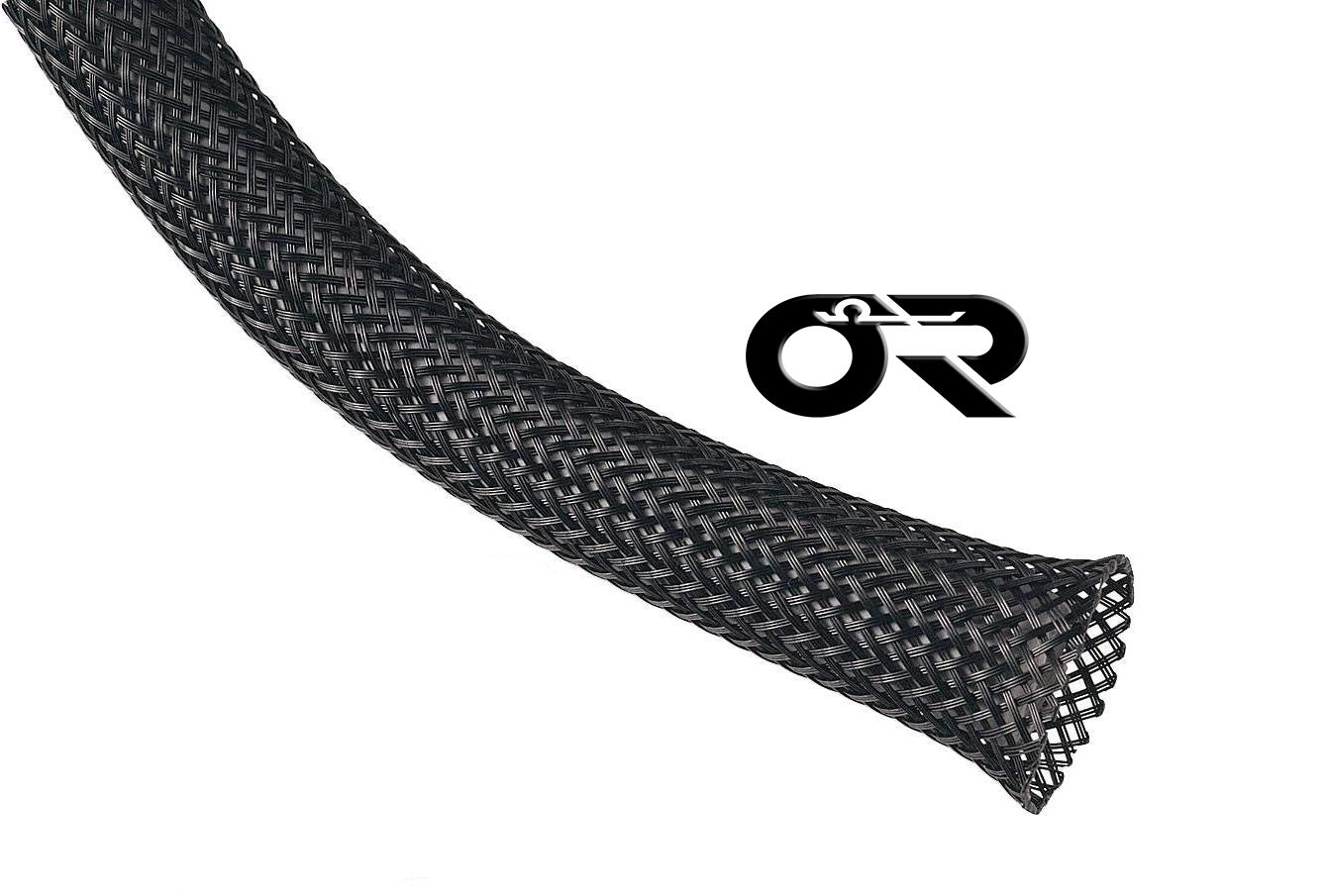 "Split Loom, 1/"" 10FT OHM Split Braided Cable Sleeving Wrap"